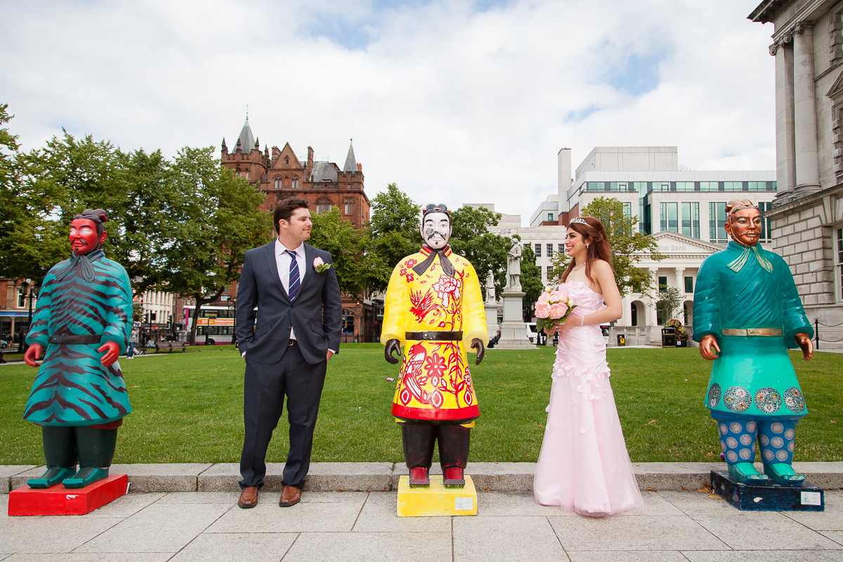 Belfast City Hall Wedding Photographer Niloo and Dan