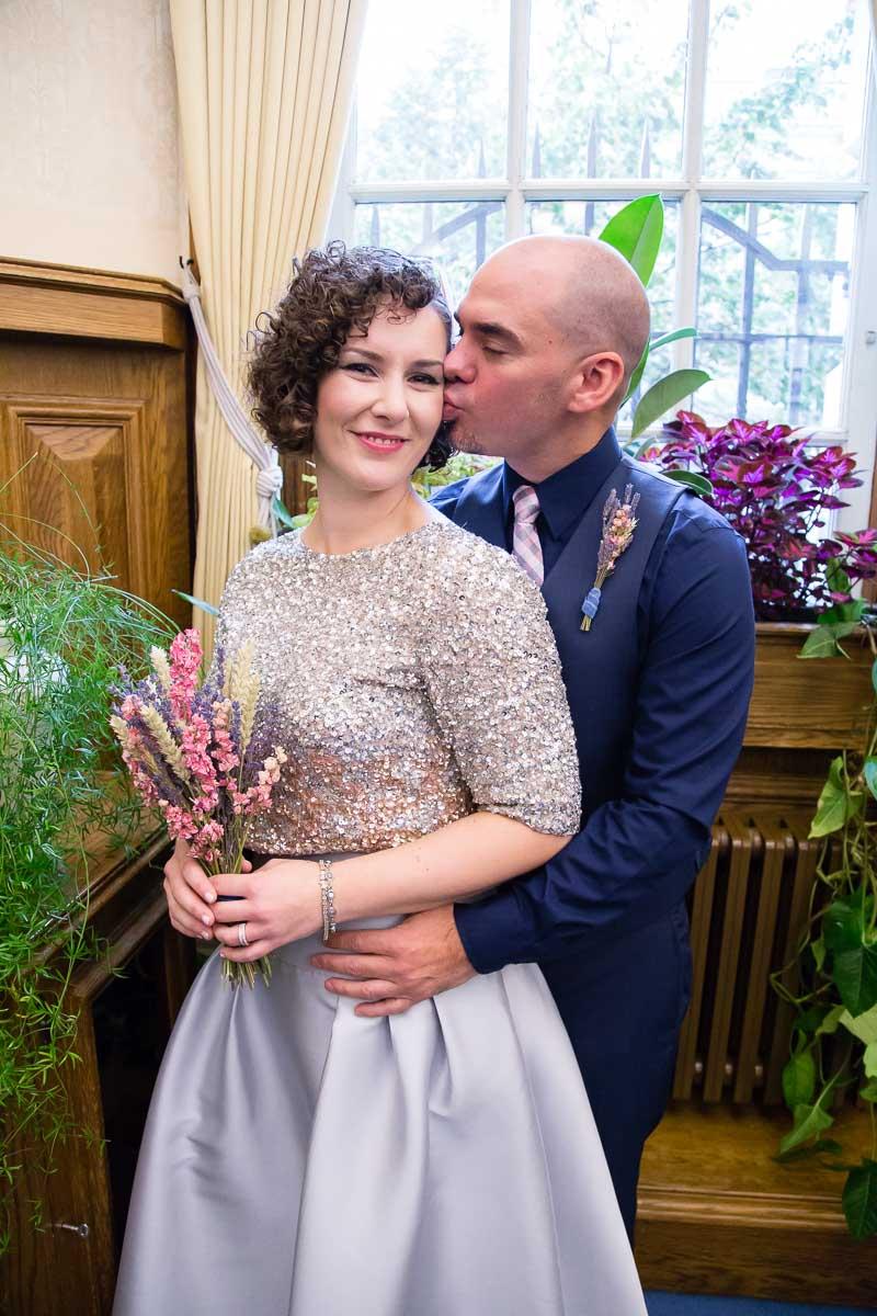 Belfast City Hall Wedding Bride and Groom