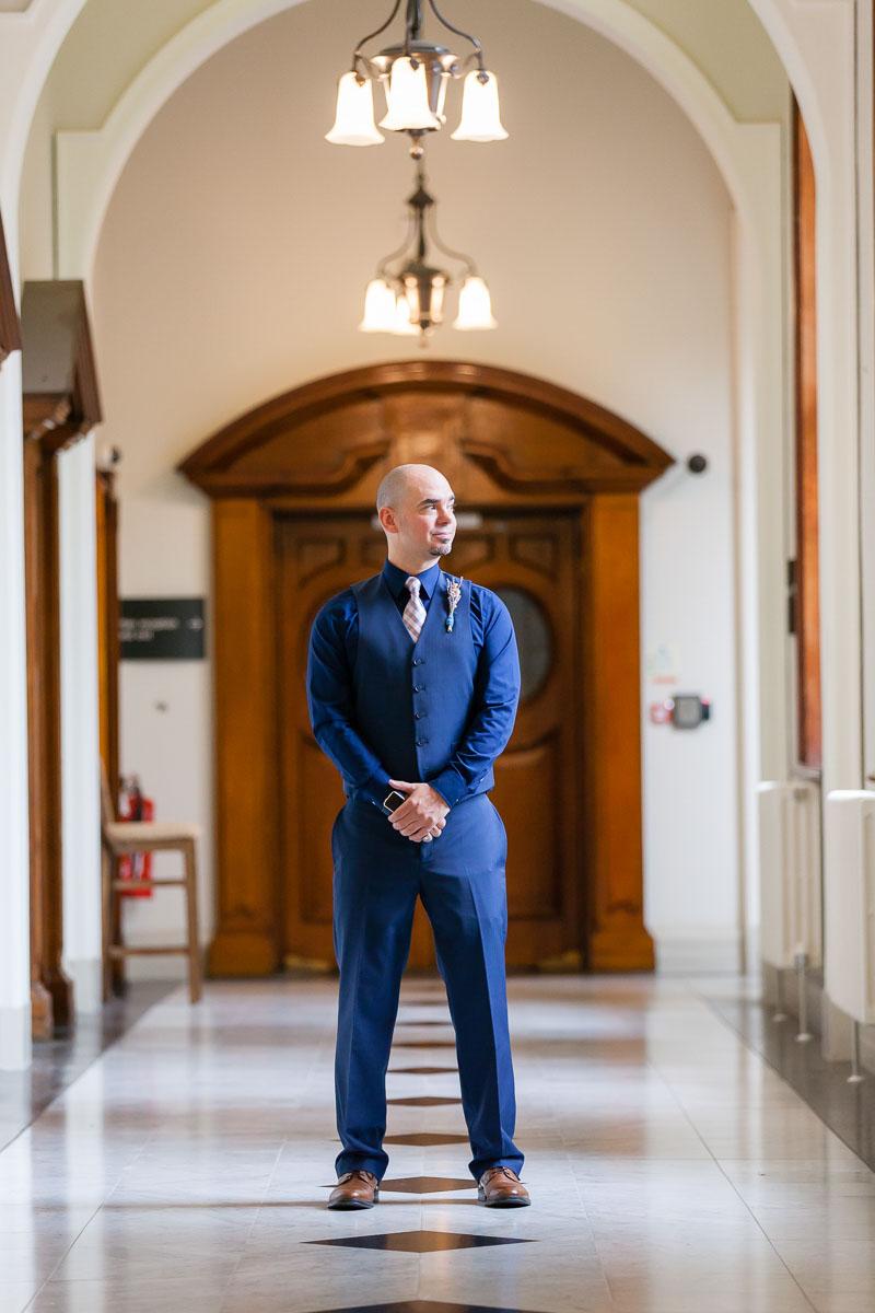 Belfast City Hall Wedding Photography Groom