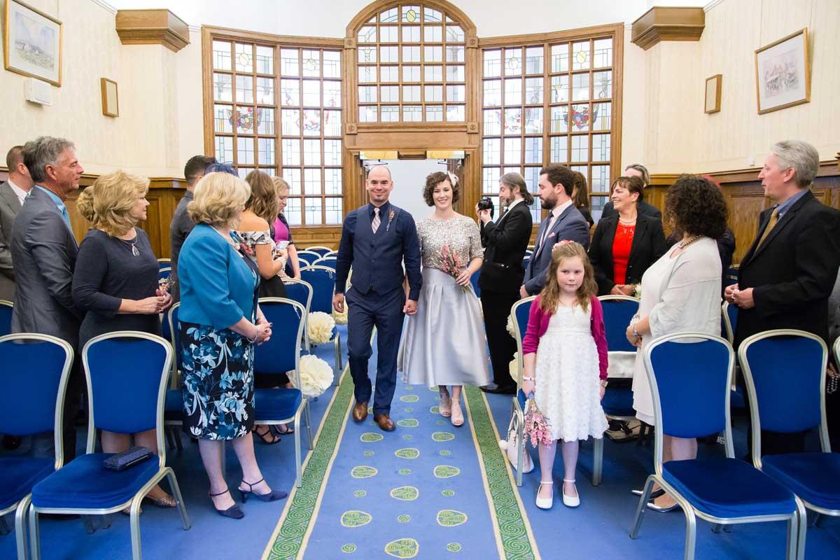 Belfast City Hall Wedding Photography Ceremony