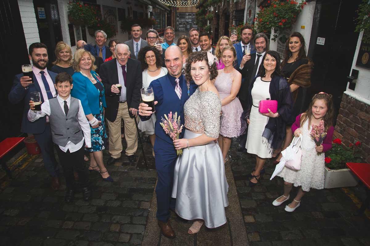 Duke Of York Belfast Wedding Photographer Tara and Ryan and guests