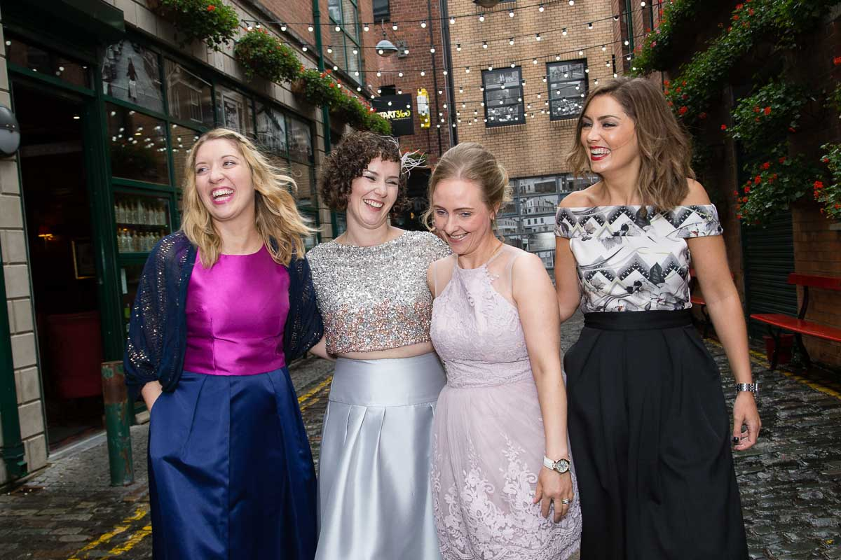 Duke Of York Belfast Wedding Bride and bridesmaids