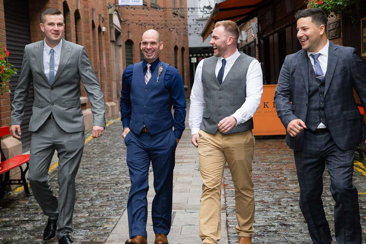 Duke Of York Belfast Wedding Groomsmen