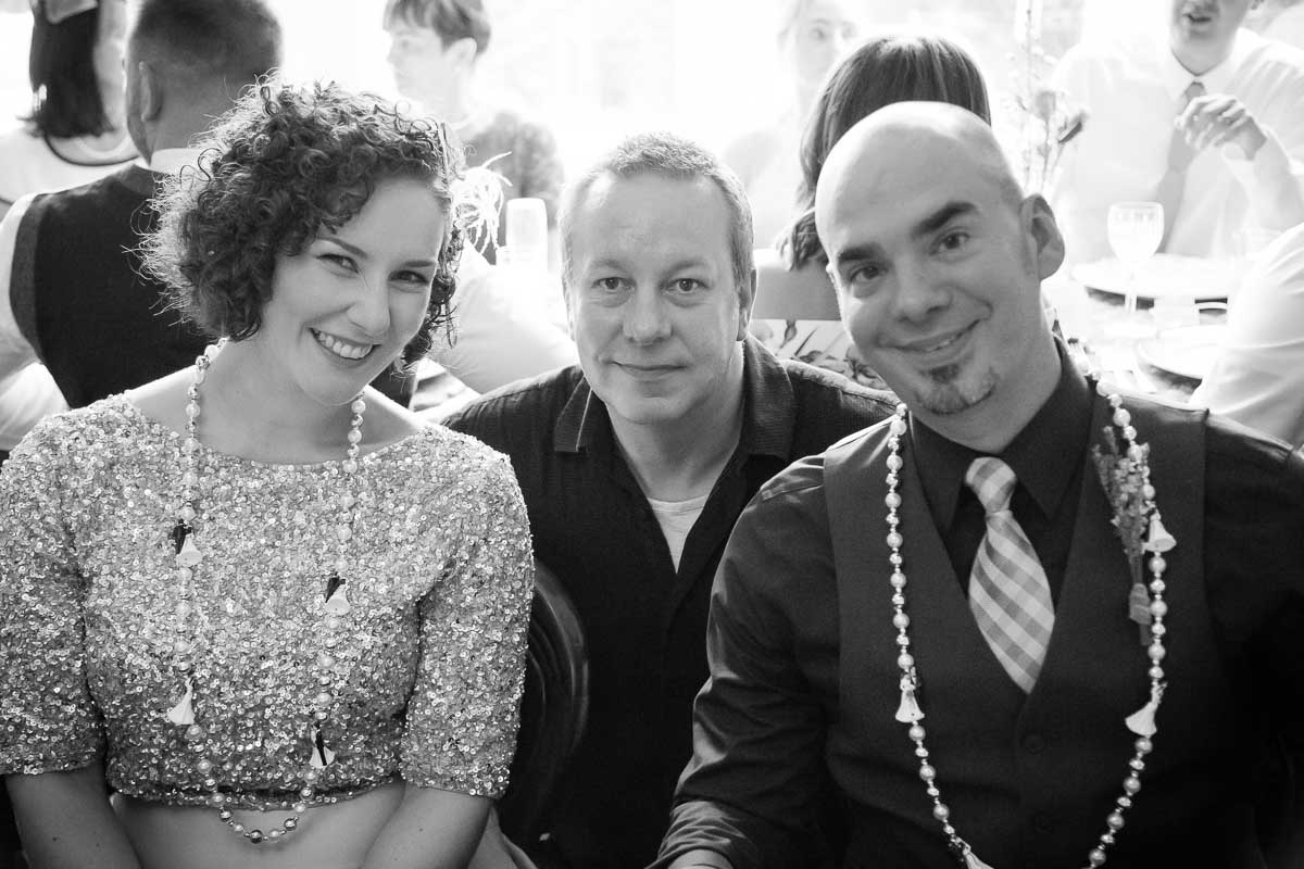 Rayanne House Wedding Party bride and groom with me