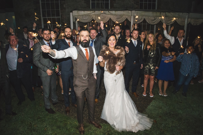 Castle Leslie Wedding Sparklers