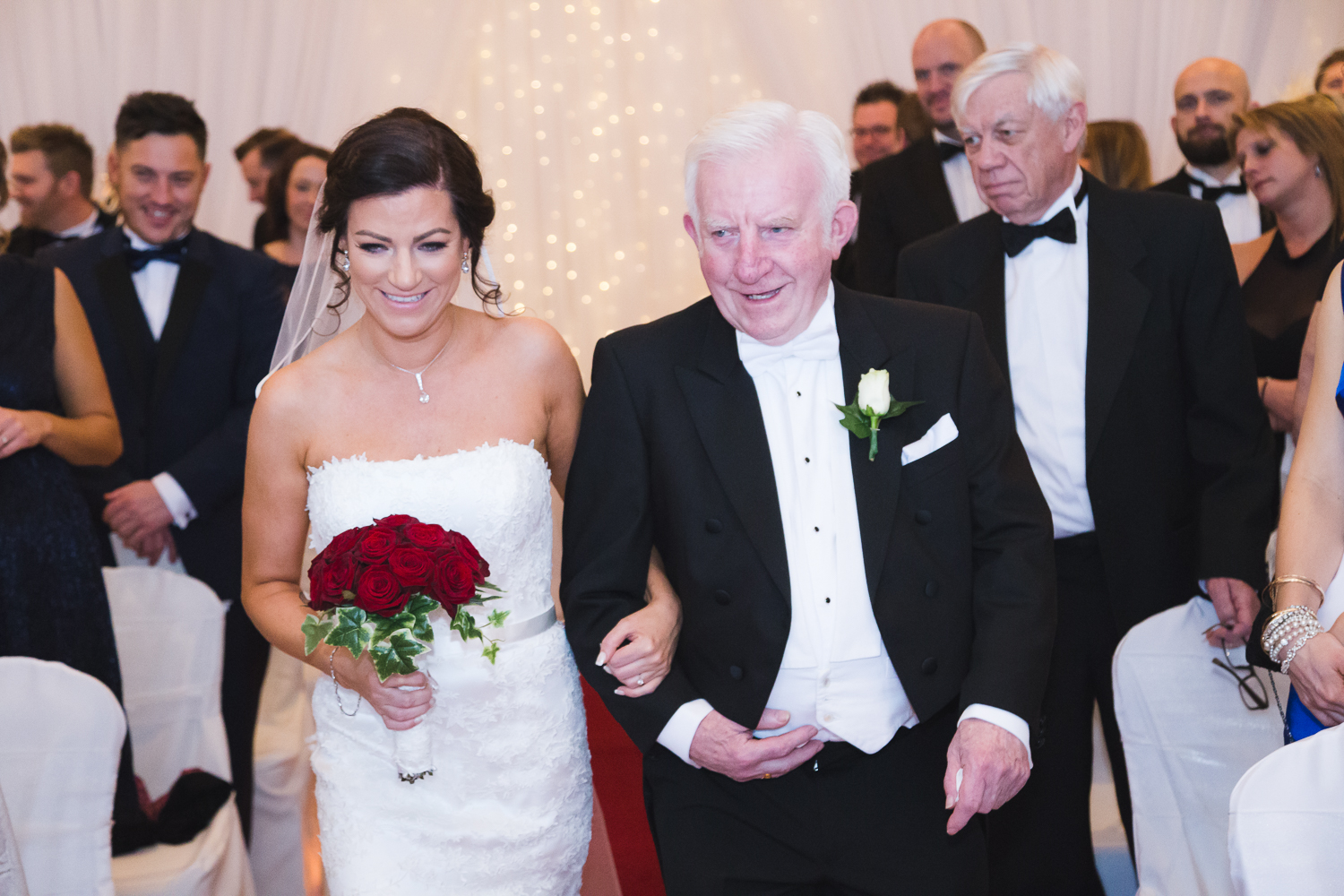 Slieve Donard Wedding Bride and Father