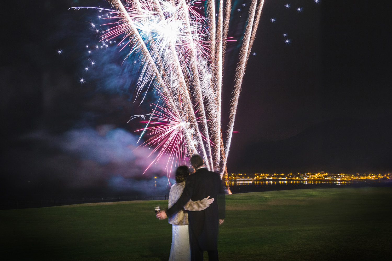 Slieve Donard Wedding Fireworks