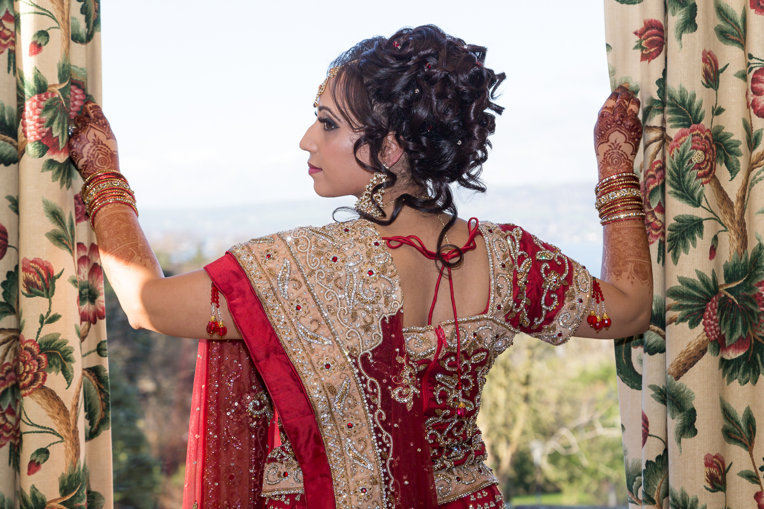 Indian Bride Red wedding saree