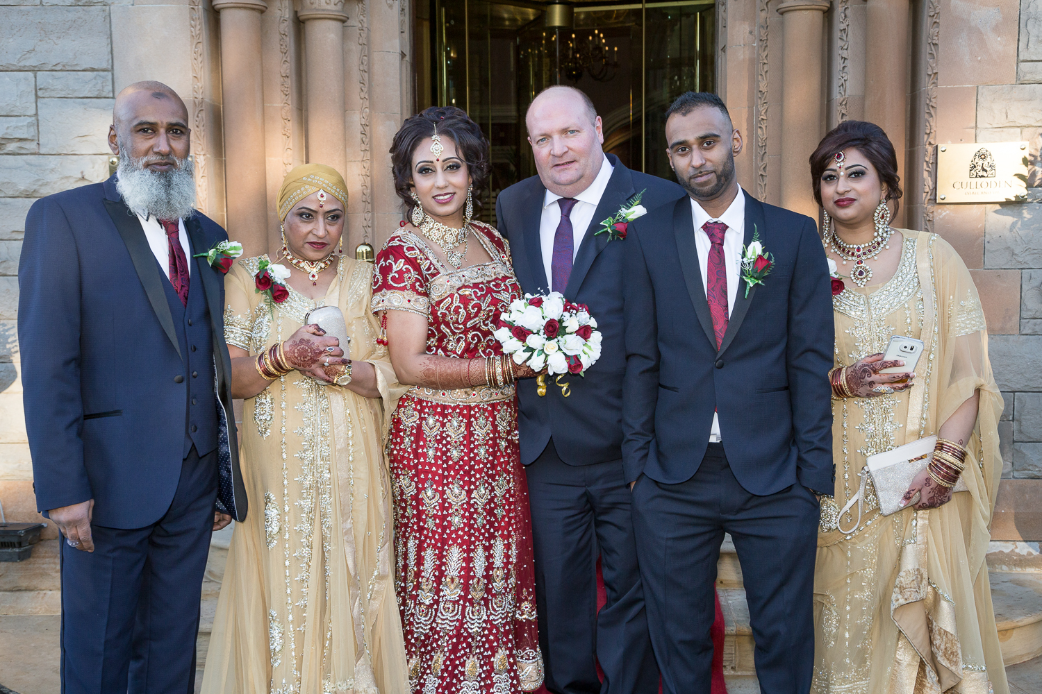 Culloden Estate Indian Wedding Family