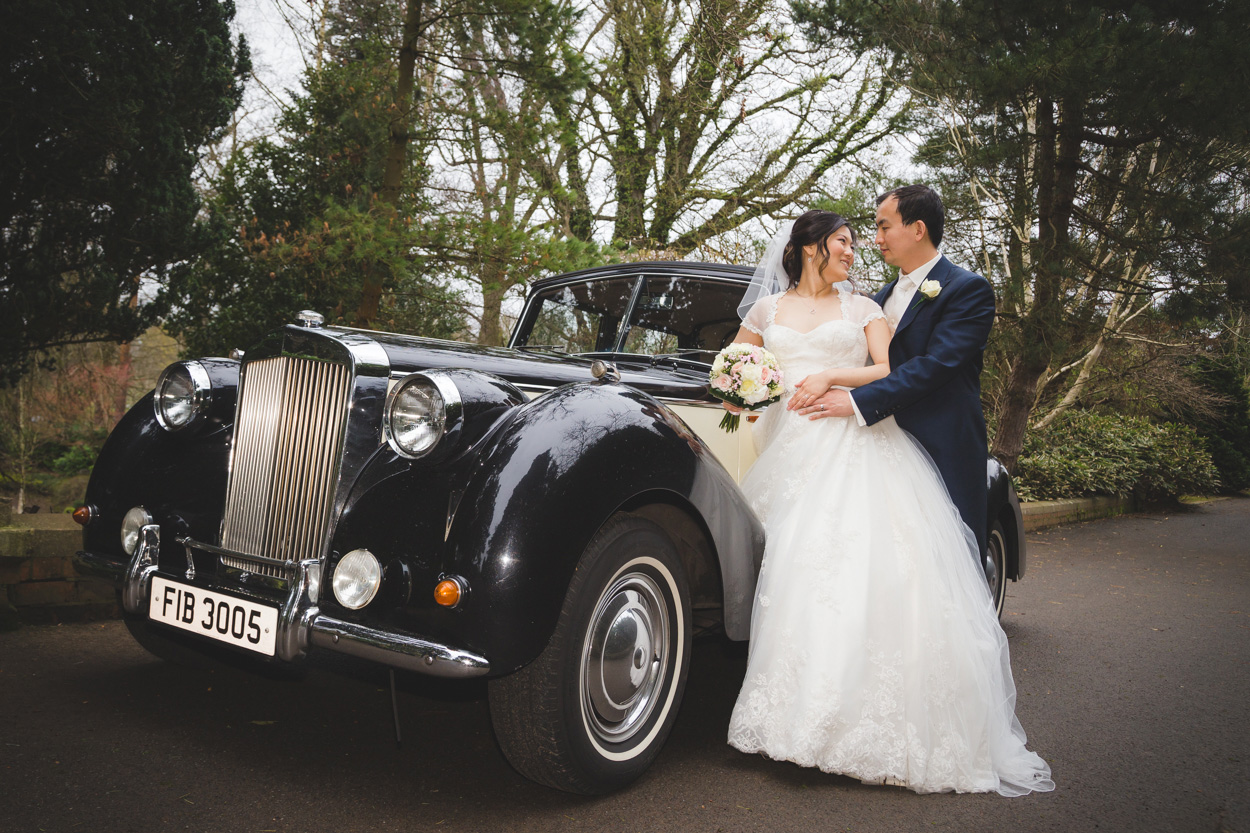 Lady Dixon Park Wedding Bride and Groom Car