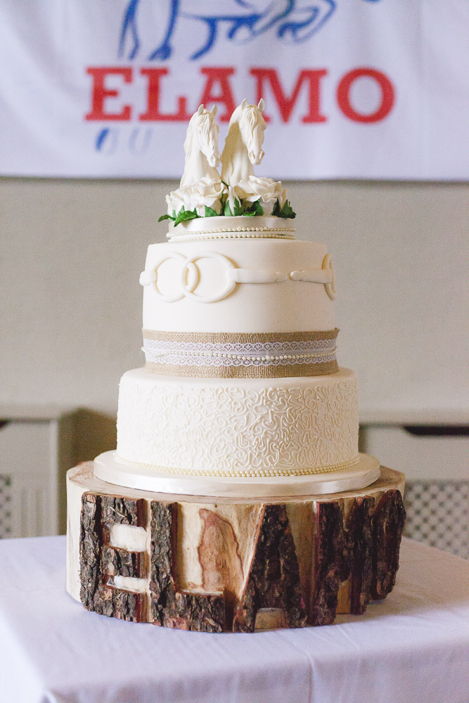 Horse Themed Wedding Cake