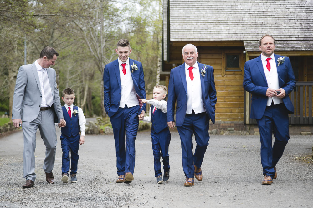 Groomsmen at Lusty Beg