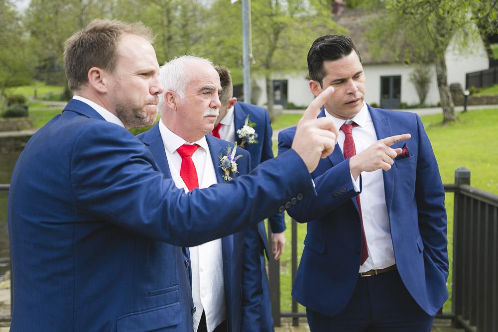 Groomsmen spot bride