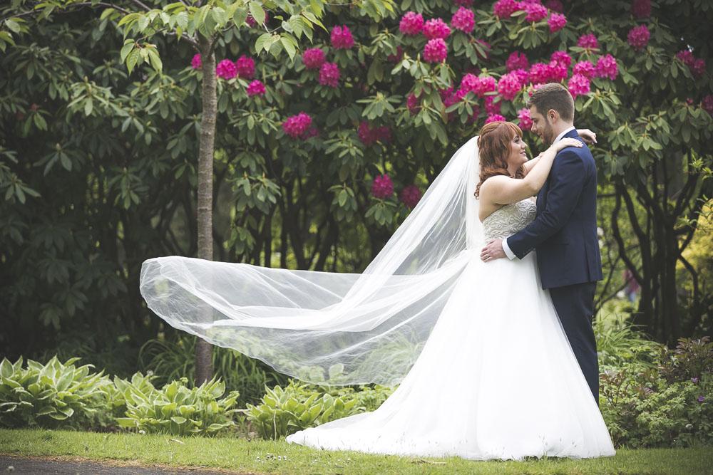 Bride and Groom Floral Background
