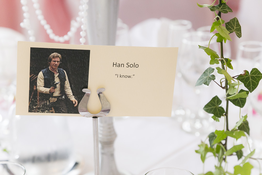 Star Wars Wedding theme place cards