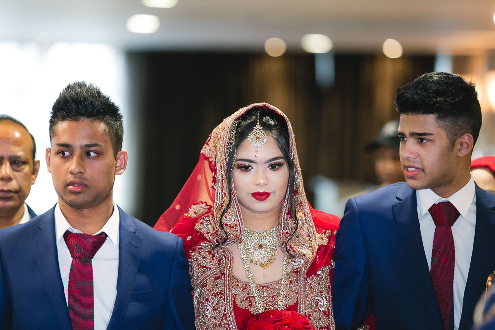 Indian Ramada Wedding Bride Family