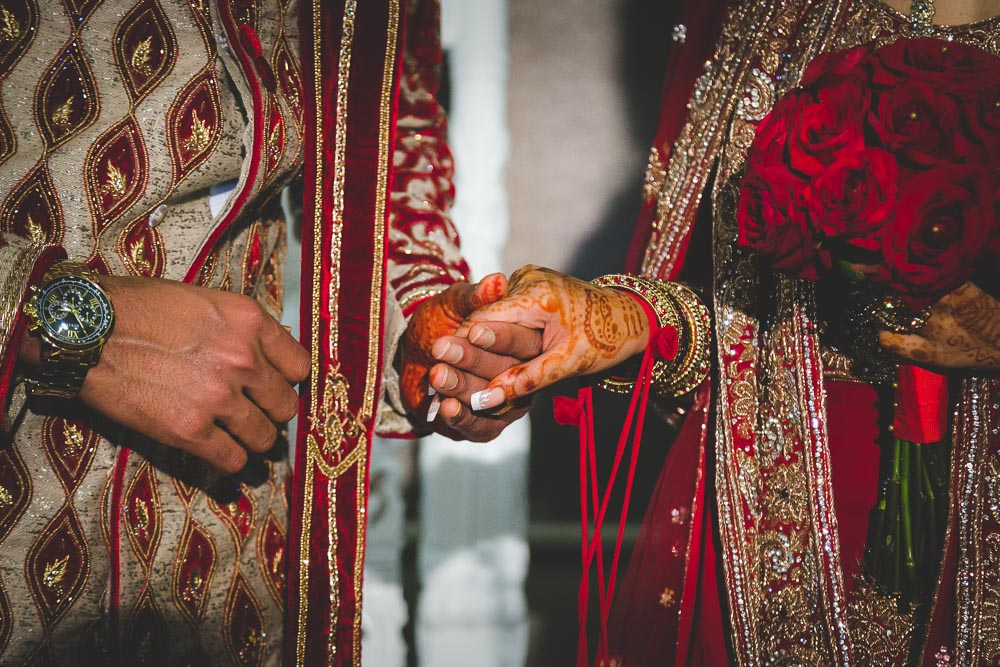 Indian Ramada Wedding Bride and Groom Hands