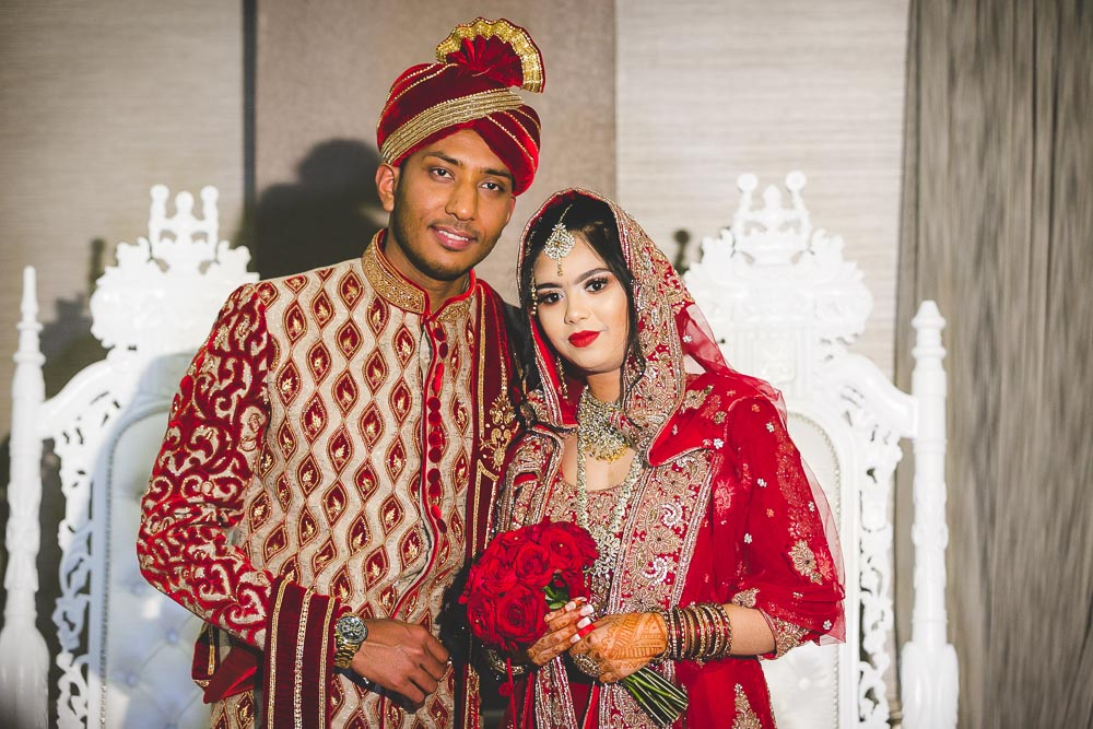 Indian Ramada Wedding Bride and Groom