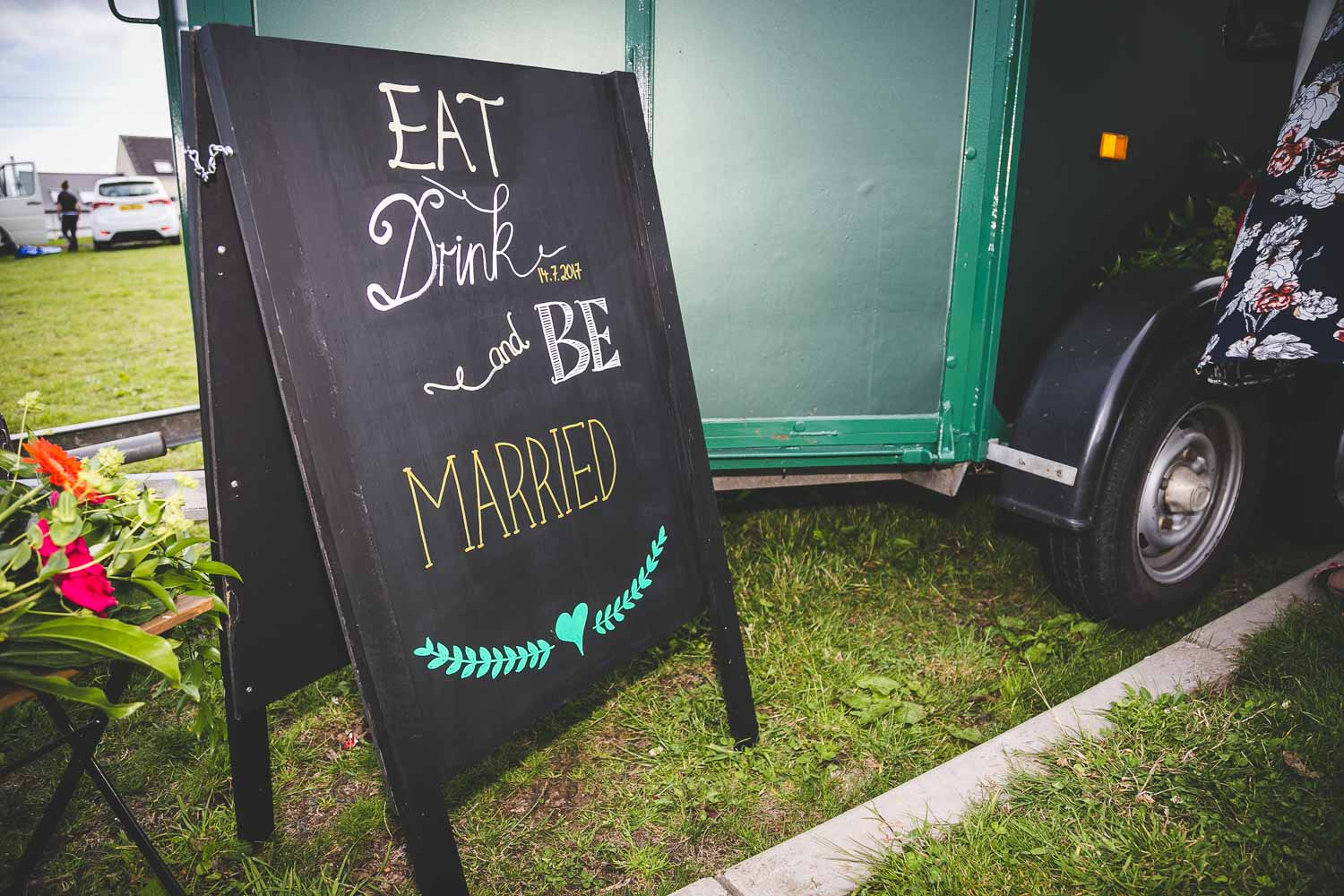Wedding Coffee Van Blackboard