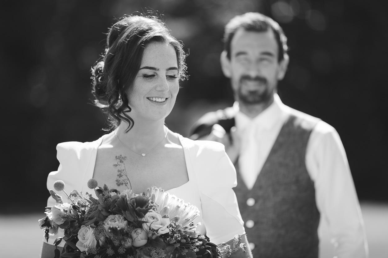 Wedding portrait black and white