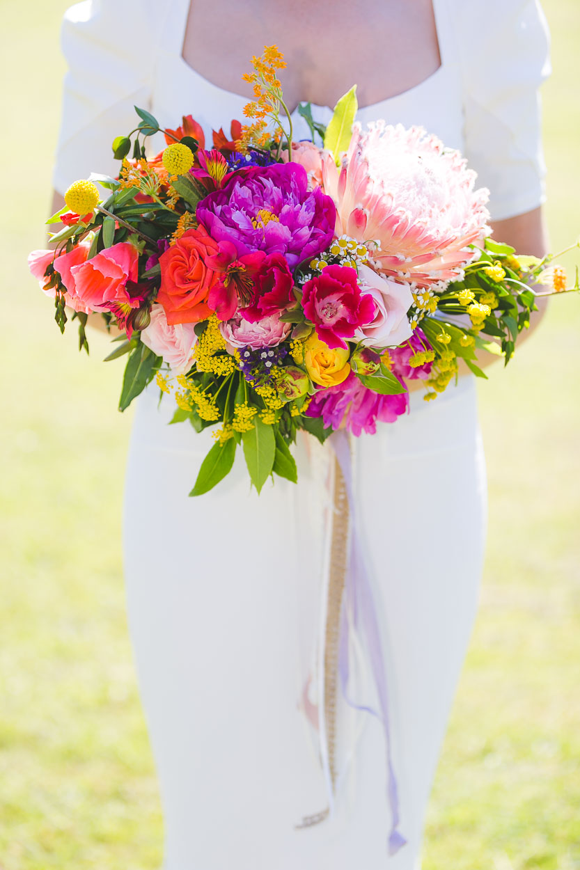 Bride's bouquet summer flowers