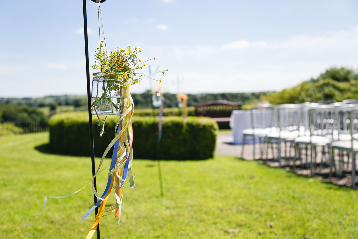 Wedding Wild Flowers and Seats