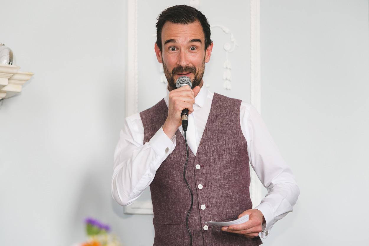 Groom's speech at reception