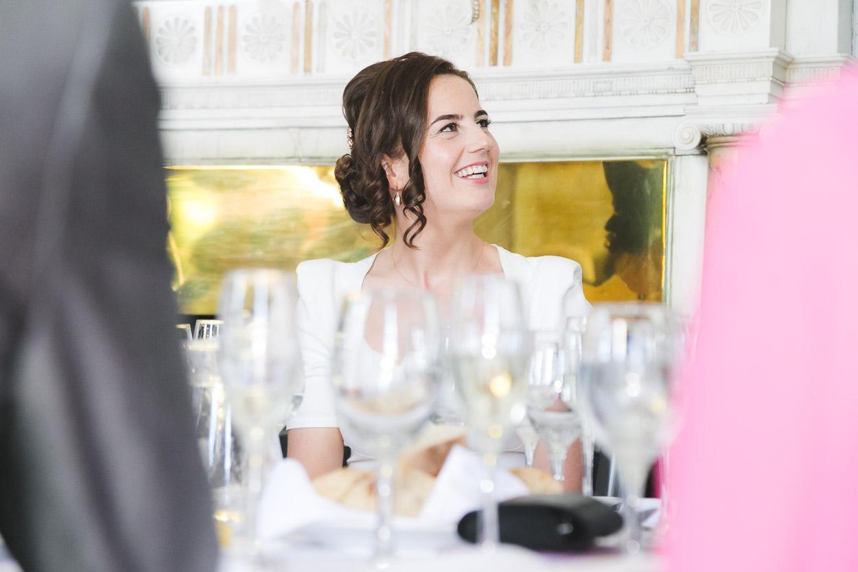 Wedding Reception Bride smiling