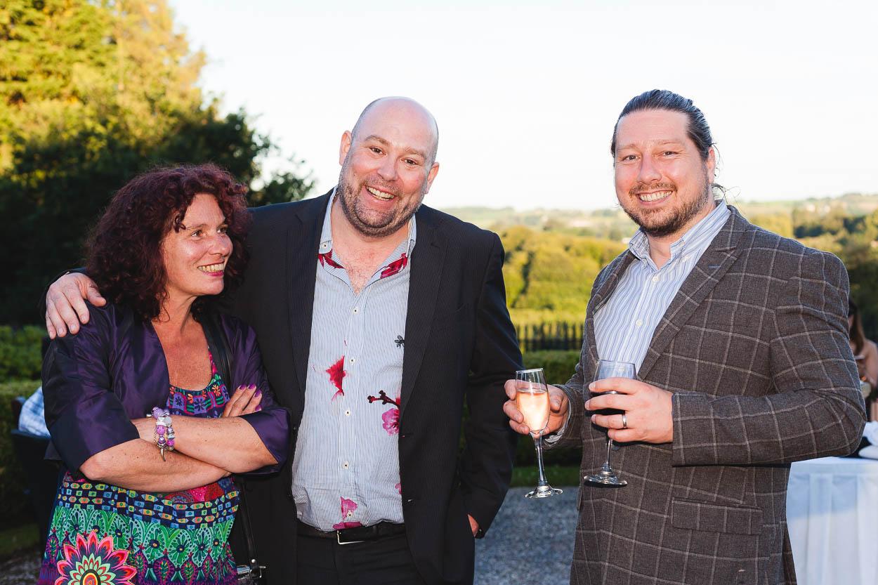 Wedding guests friends