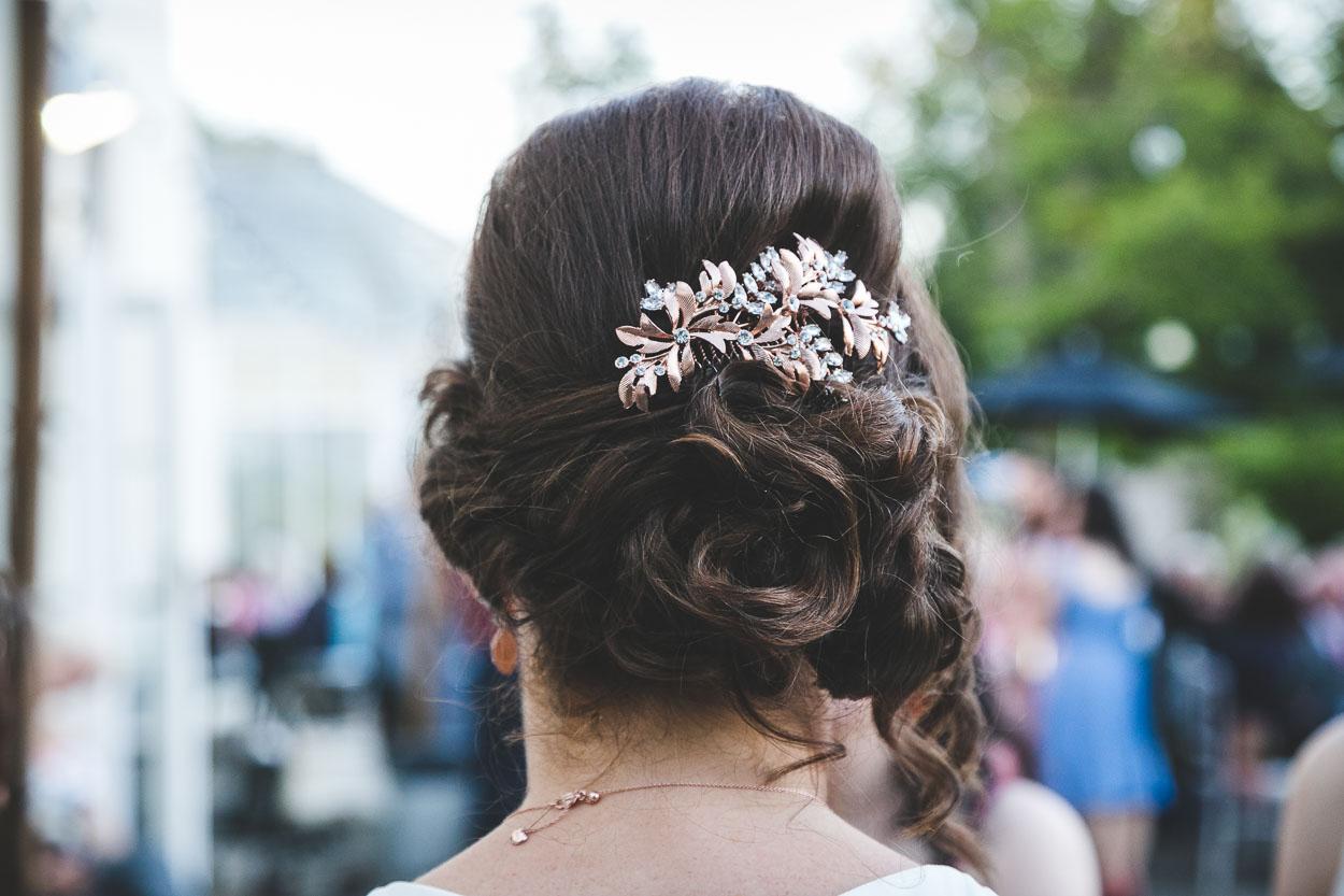 Bride's floral head piece