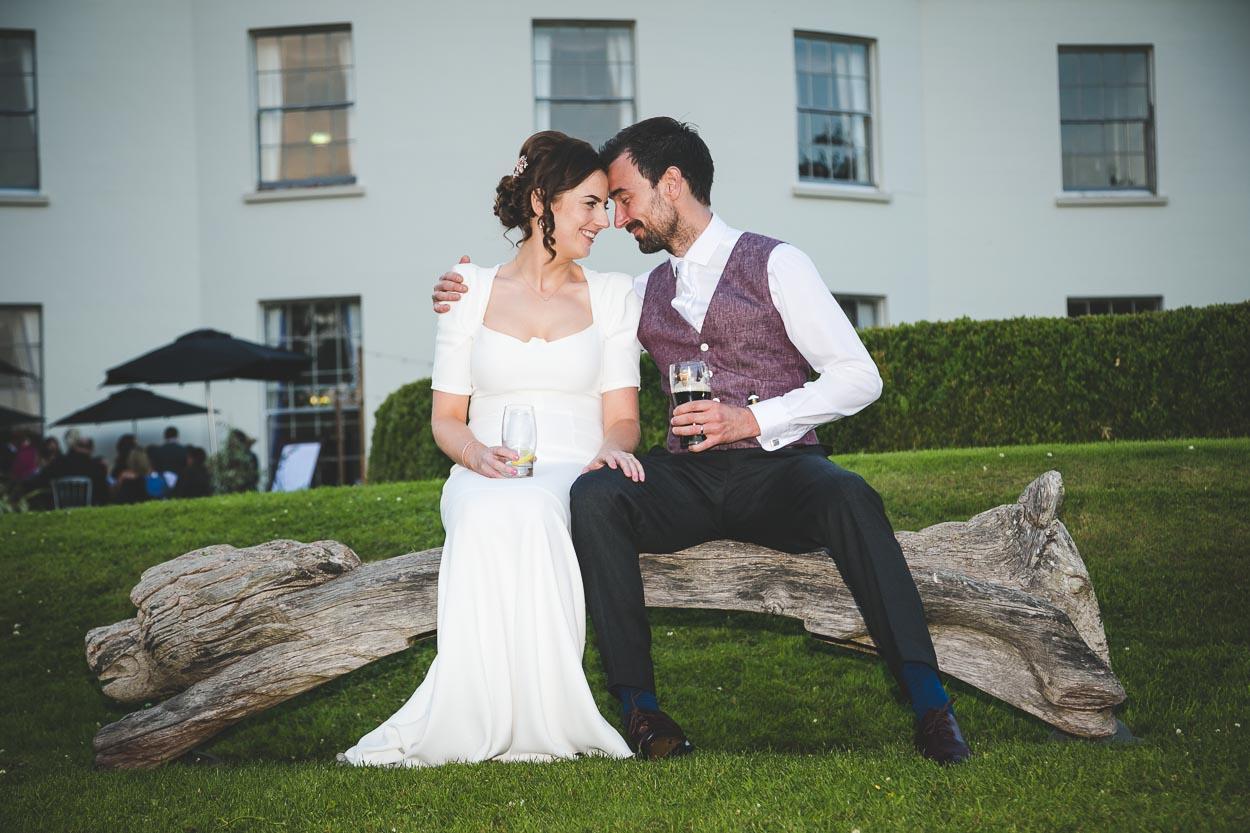 Malone House Wedding bride and groom head to head