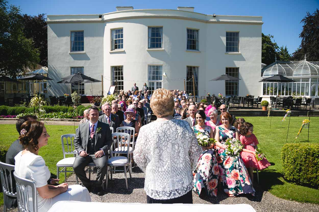 Malone house outdoor wedding ceremony