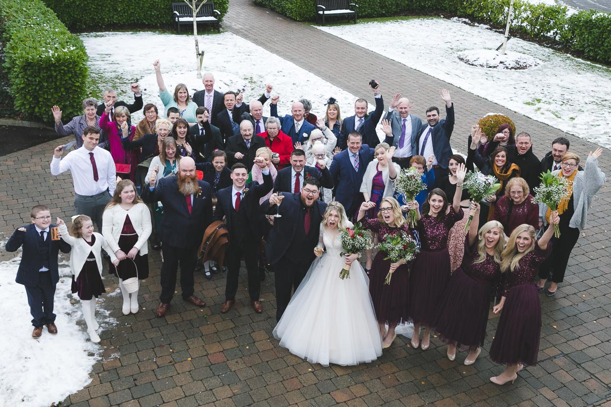 Clandeboye Lodge Wedding guests group