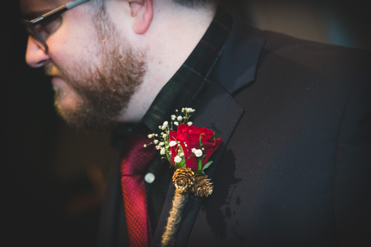 Grooms Tie and flower