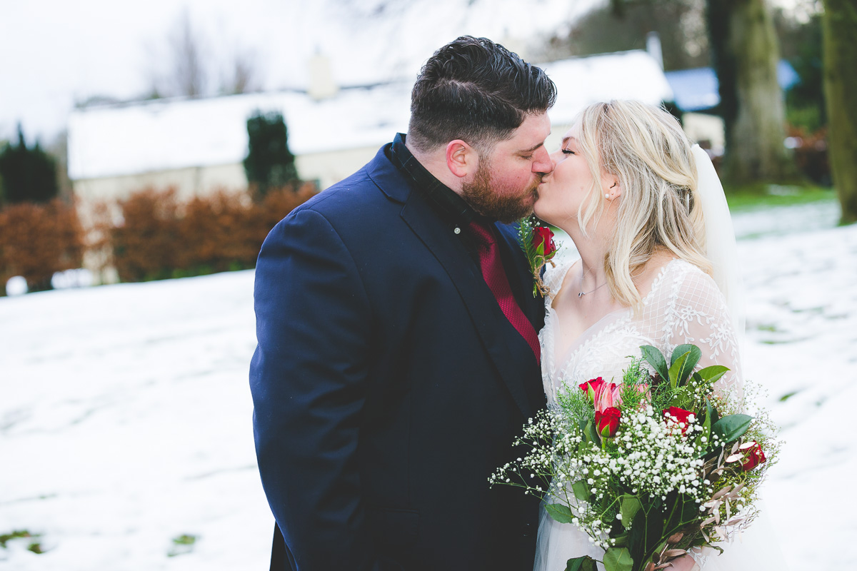 Clandeboye Lodge Christmas Wedding Snow