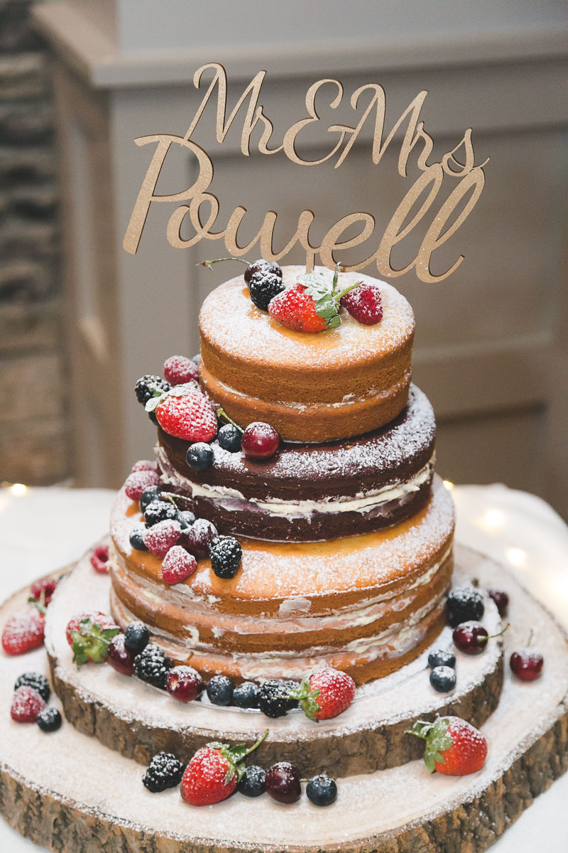 Fruit wedding sponge cake