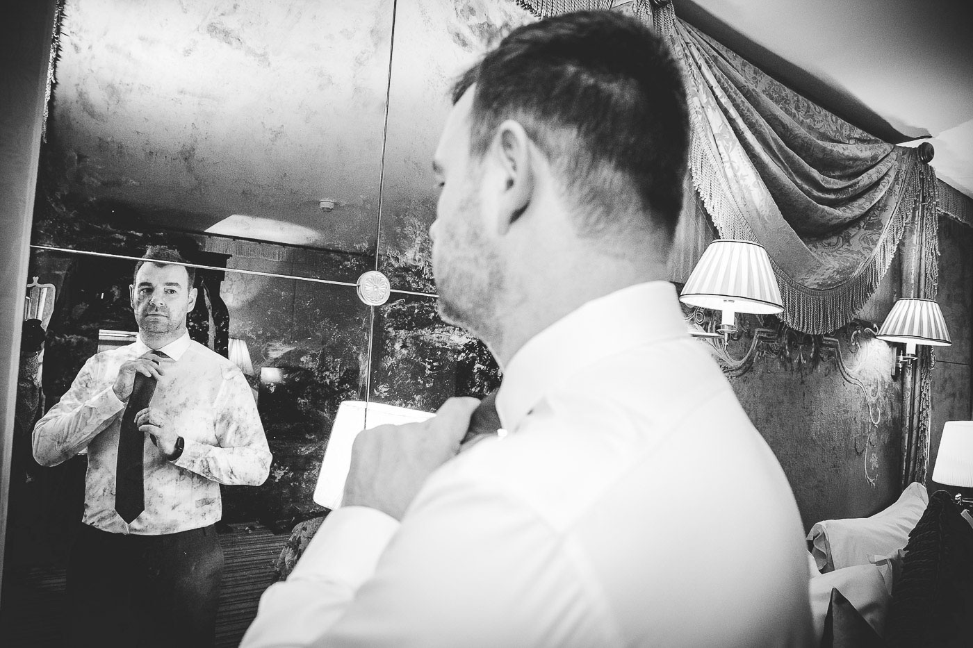 Merchant Hotel Wedding, Grooms Prep