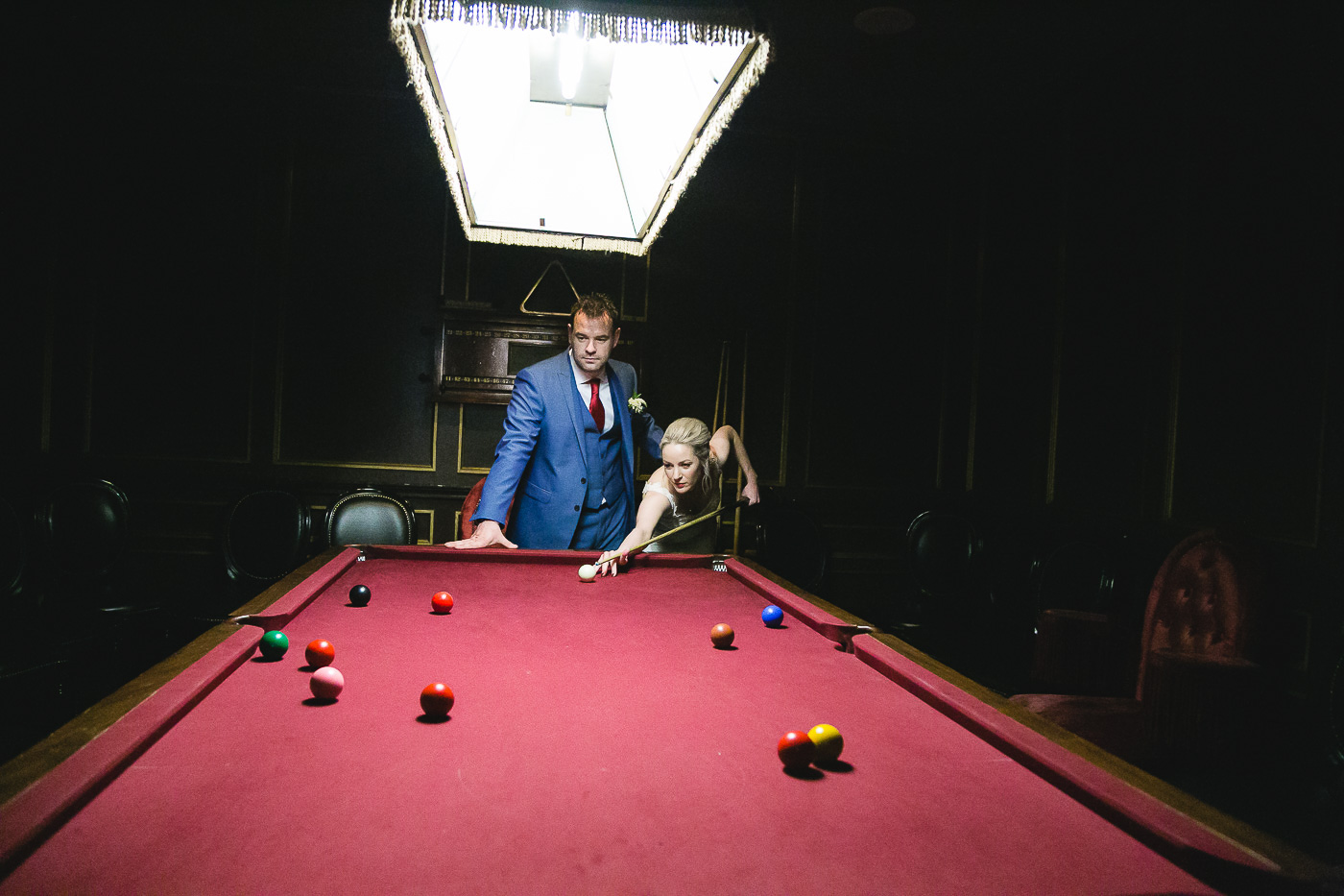 Merchant Hotel Wedding, snooker room