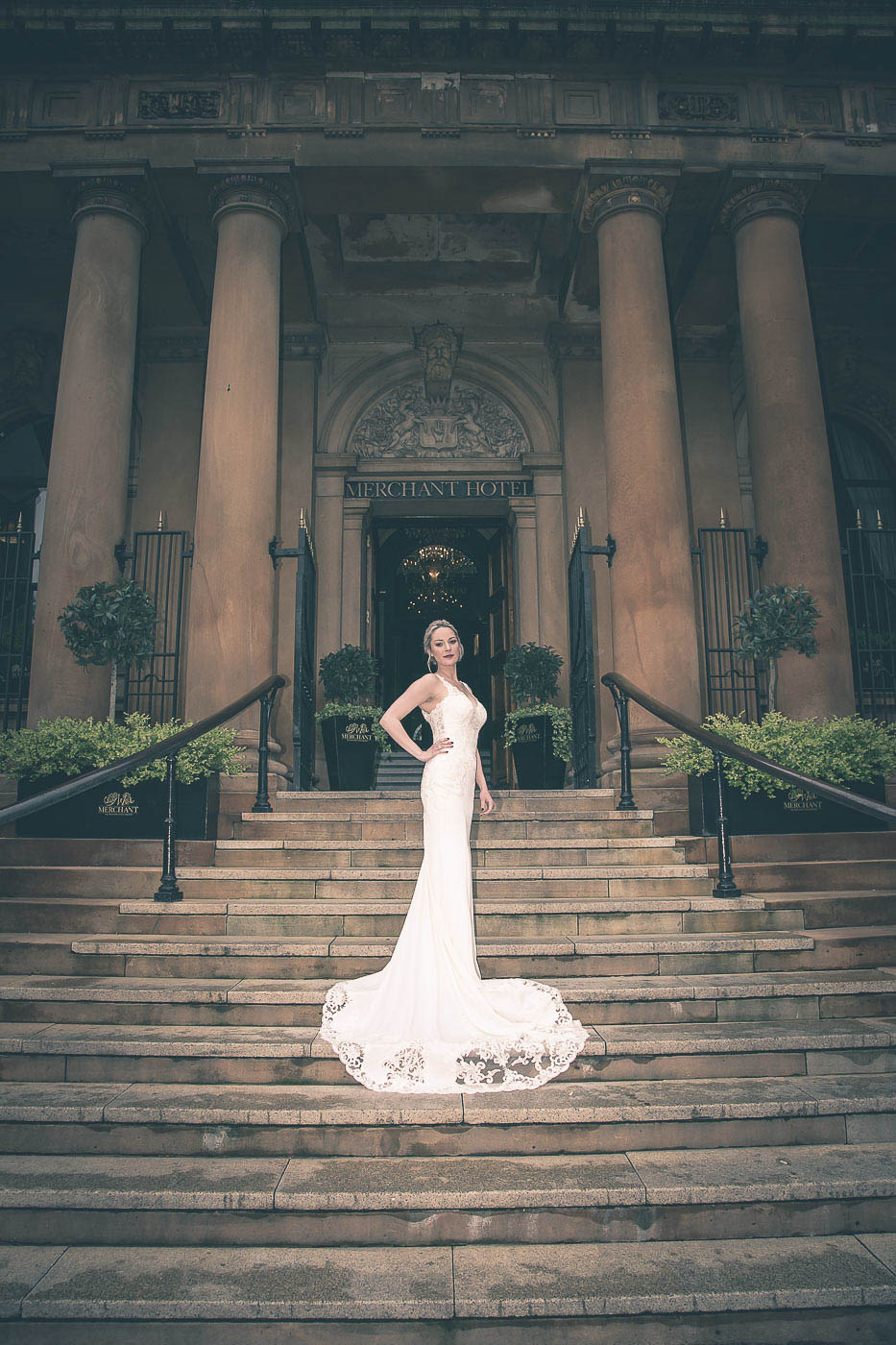 Merchant Hotel Wedding, Bride and dress