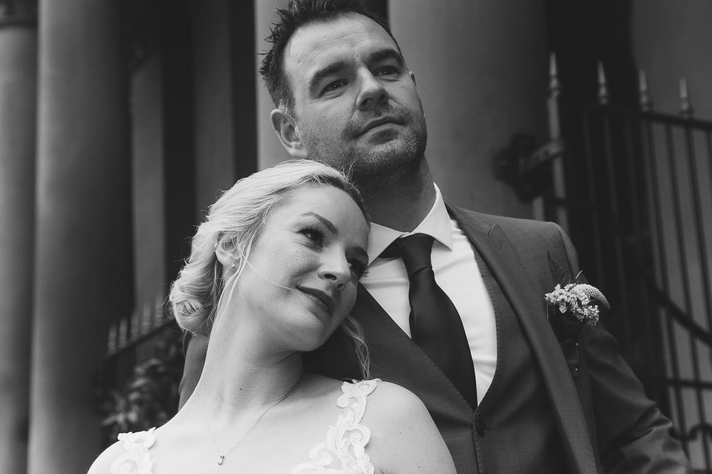 Merchant Hotel Wedding, Bride and groom