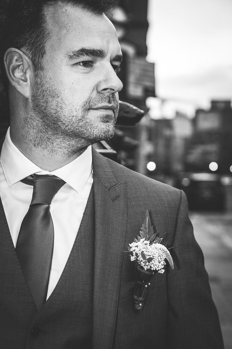 Merchant Hotel Wedding, Groom