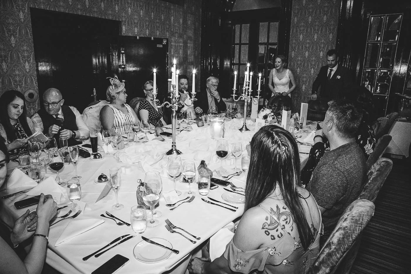 Merchant Hotel Wedding, Guests at table