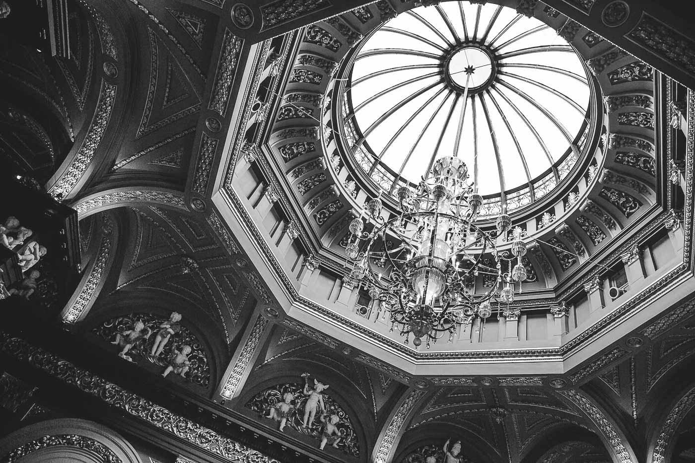 Merchant Hotel Wedding, Ceiling detail