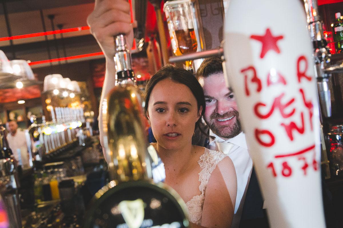 Belfast City Wedding Guinness