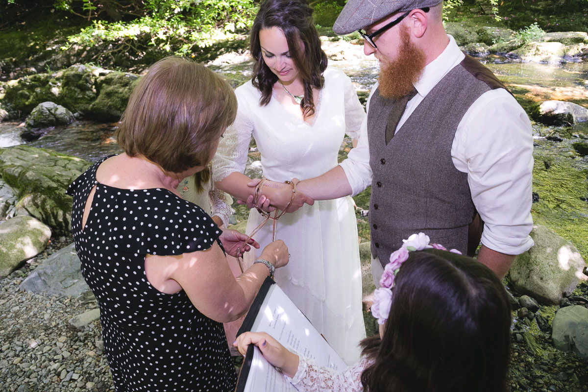 Handfasting ceremony Ireland