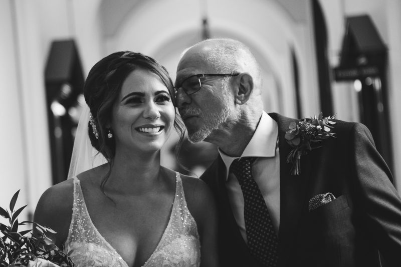 Belfast City Hall wedding Bride and father