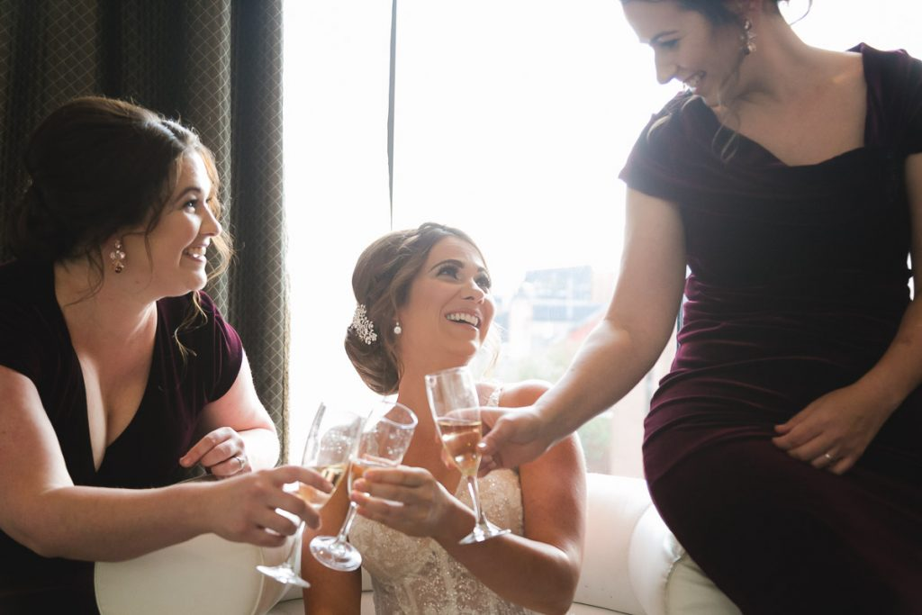 Belfast wedding photographer Merchant Hotel Bridesmaids