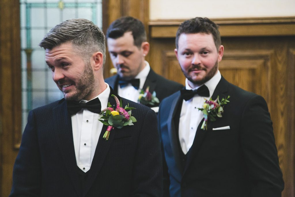 Belfast City Hall wedding grooms men