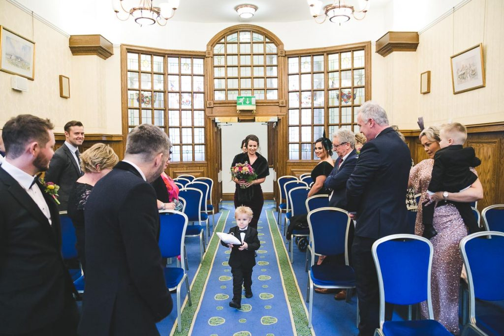 Belfast City Hall wedding ring bearer