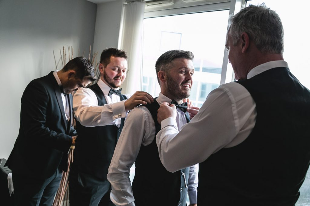 Belfast wedding photographer Groom's Prep